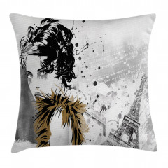 Fashion Model Paris Girl Pillow Cover