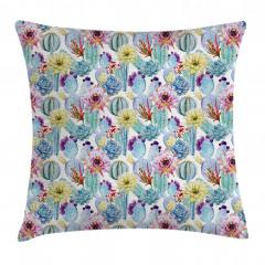Desert Sand Wild Flowers Pillow Cover