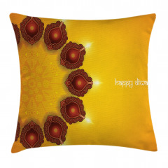 Religious Festive Candle Pillow Cover
