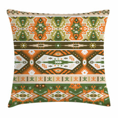 Aztec Mayan Style Stripe Pillow Cover