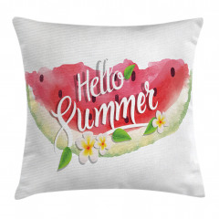 Summer Welcome Quote Pillow Cover