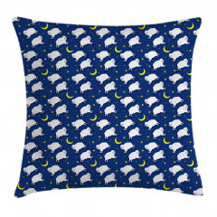 Cute Sleeping Lambs Animal Pillow Cover