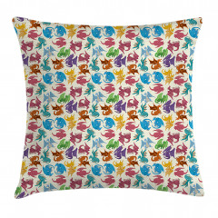Children Pattern Colored Pillow Cover