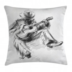 Cowboy and Guitar Eastern Pillow Cover