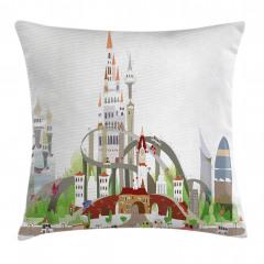Mega City Urban Scenery Pillow Cover