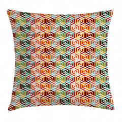 Hexagonal Shape Retro Pillow Cover