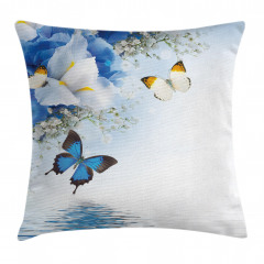 Exotic Flowers Pond Pillow Cover