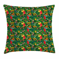 Xmas Accessories Pine Pillow Cover