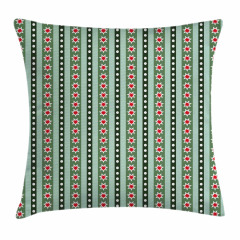 Stars Christmas Motifs Pillow Cover