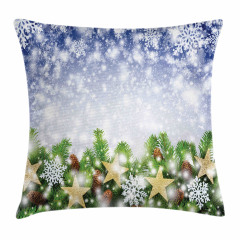 Bokeh Snowflakes Pillow Cover