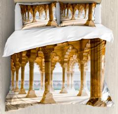 Agra Fort Pillar Duvet Cover Set