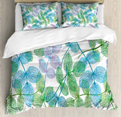 Flowers Leaves Ivy Ombre Duvet Cover Set