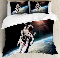 Astronaut with Sun Beams Duvet Cover Set