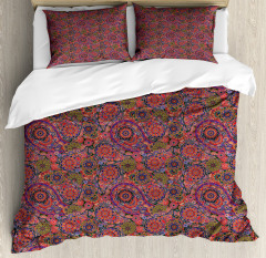 Asian Leaves Eastern Duvet Cover Set