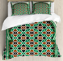 Moroccan Arch with Floral Duvet Cover Set