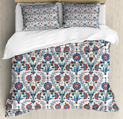 Old Floral Leaf Ornament Duvet Cover Set