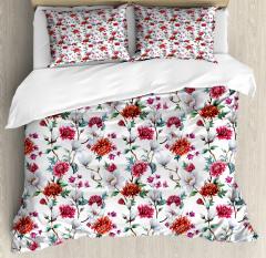 Romantic Magnolia Nature Duvet Cover Set