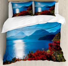 Sunny Autumn Mountain Duvet Cover Set