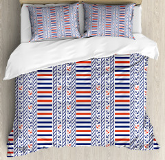 Marine Pattern Stripes Duvet Cover Set