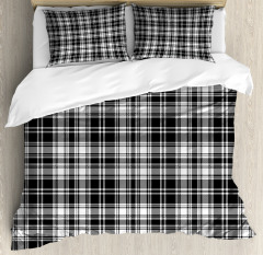 British Tartan Pattern Duvet Cover Set