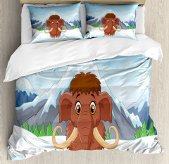 Baby Ice Snowy Mountain Duvet Cover Set