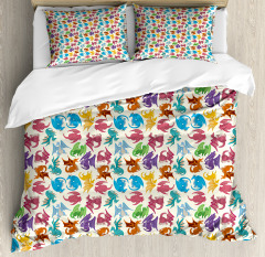 Children Pattern Colored Duvet Cover Set