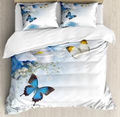 Exotic Flowers Pond Duvet Cover Set