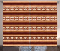 Old American Motif Curtain