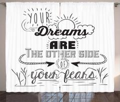 Optimistic Winner Slogan Curtain