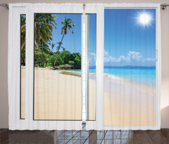 Island Scenery Traveling Curtain