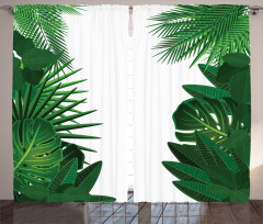 Tropical Exotic Palms Curtain