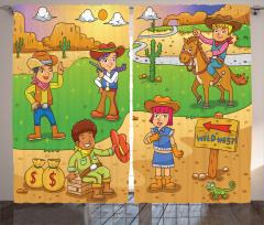 Wild West Cowboy Kids Curtain