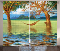 Trees in Tropical Land Curtain