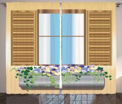 Flower Plant Medieval Curtain