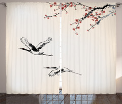 Cherry Trees in Spring Curtain