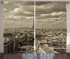 City Skyline of Paris Curtain
