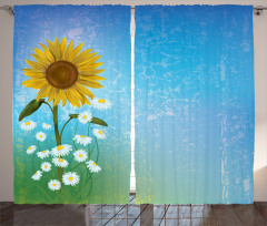 Sunflowers Chamomiles Curtain