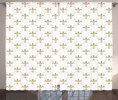 Vintage Style Lilies Curtain