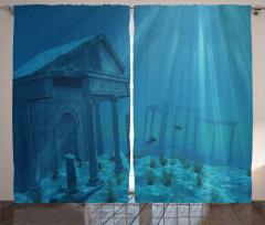 Sun Rays over Ruins Sea Curtain
