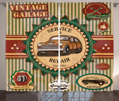 Old Sixties Car Pop Art Curtain