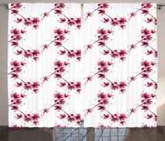 Petal Flower Ethnic Curtain