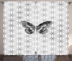 Geometric Butterfly Curtain