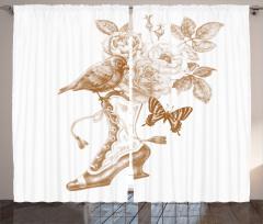 Nostalgic Butterflies Curtain