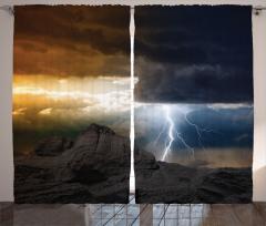 Dark Clouds Mountain Curtain