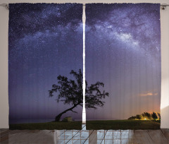 Milky Way Stars Space Curtain