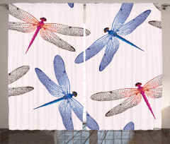 Dragonfly Wings Art Curtain