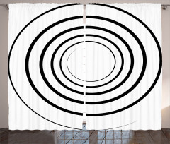 Spiral Shape Monochrome Curtain