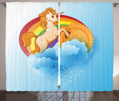Cartoon Kids Rainbow Curtain