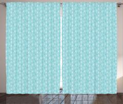 Raindrops Fall Season Art Curtain