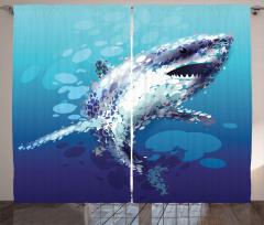 Shark Oceanlife Animal Curtain
